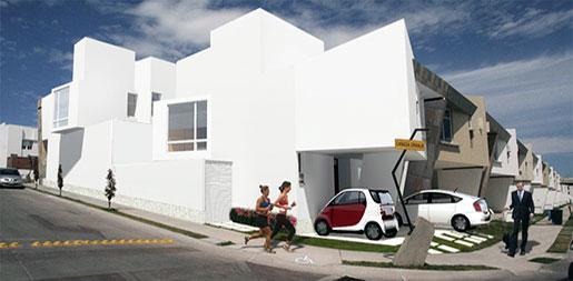 Diseño casas esquina residencial Cañada Diamante