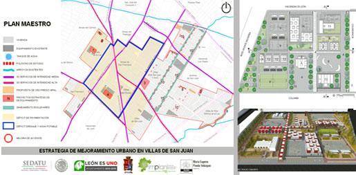 Estrategia Mejora Urbana Villas de San Juan, León.