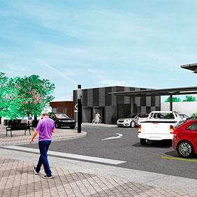 Estacionamiento y plaza SAPAL